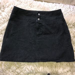 BENETTON black denim mini skirt/cotton/44